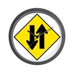 Two-Way Traffic Sign - Wall Clock