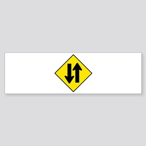 Two-Way Traffic Sign - Bumper Sticker