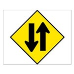 Two-Way Traffic Sign - Small Poster