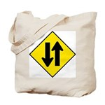 Two-Way Traffic Sign - Tote Bag