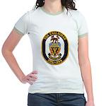 USS CALLAGHAN Jr. Ringer T-Shirt