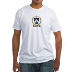 BROSSEAU Family Crest Fitted T-Shirt