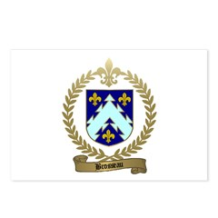 BROSSEAU Family Crest Postcards (Package of 8)