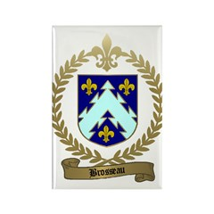 BROSSEAU Family Crest Rectangle Magnet (10 pack)