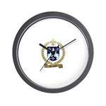 BROSSEAU Family Crest Wall Clock