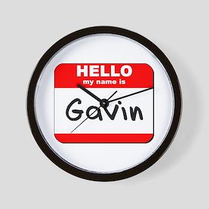 Hello my name is Gavin Wall Clock