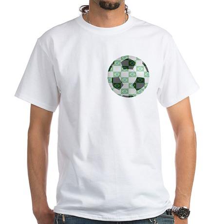 Brazilian Soccer Fan White T-Shirt