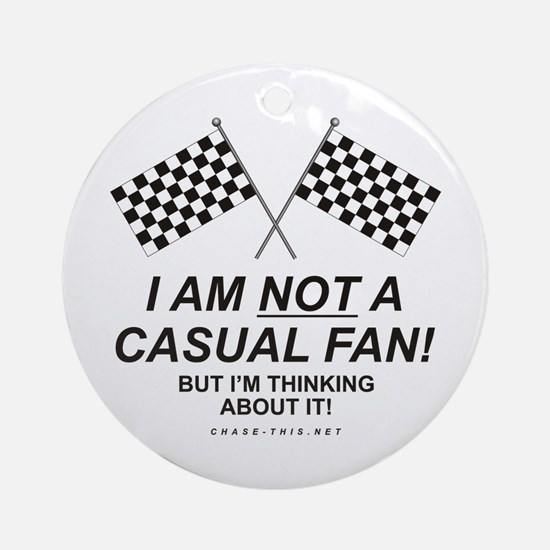 Checker Flag Not Casual Ornament (Round)
