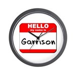 Hello my name is Garrison Wall Clock