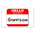 Hello my name is Garrison Rectangle Sticker