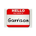 Hello my name is Garrison Rectangle Magnet (10 pac