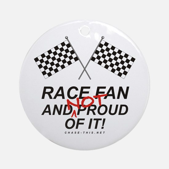 Checker Flag Proud Race Ornament (Round)
