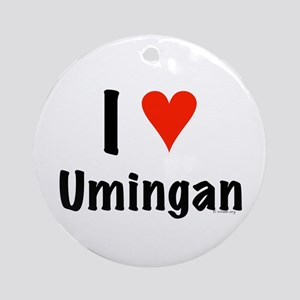 I love Umingan Ornament (Round)