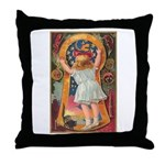 Little Girl Halloween Throw Pillow