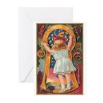 Little Girl Halloween Greeting Cards (Pk of 10)