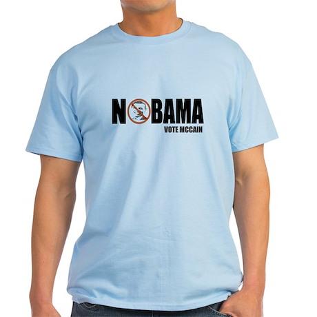 Nobama Funny Anti Obama Light T-Shirt