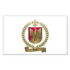 BRUN Family Crest Rectangle Decal