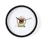 BRUN Family Crest Wall Clock
