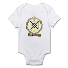 BRUNEAU Family Crest Infant Creeper