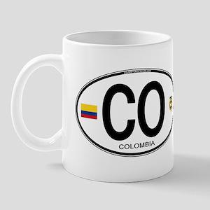 Colombia Euro Oval Mug