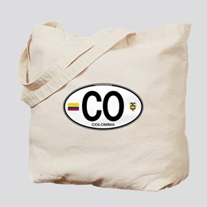 Colombia Euro Oval Tote Bag