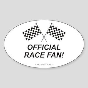 Checker Flag Official Oval Sticker