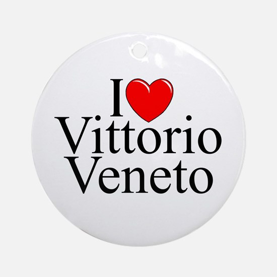 """I Love (Heart) Vittorio Veneto"" Ornament (Round)"