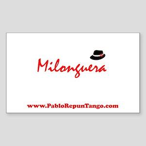 Milonguera Rectangle Sticker