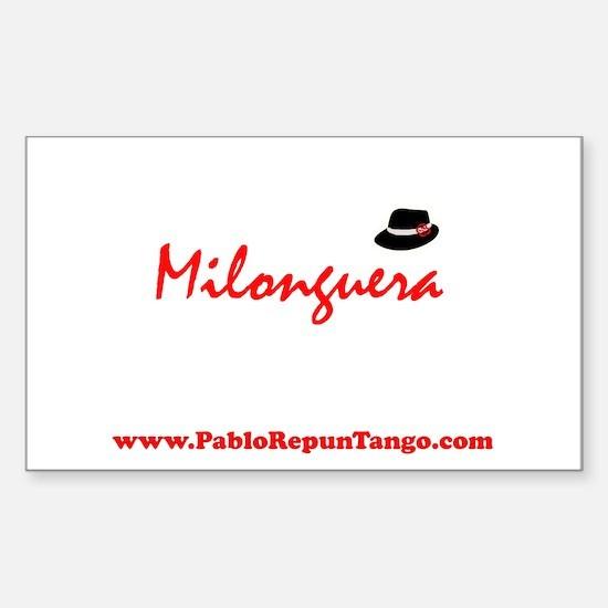 Milonguera Rectangle Decal