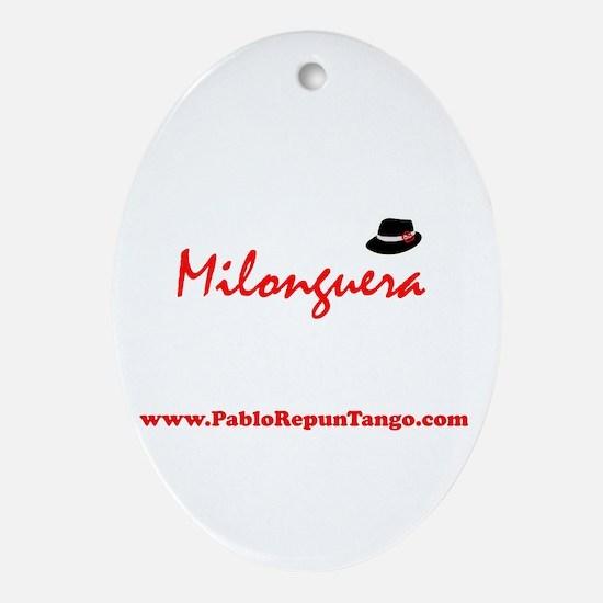 Milonguera Oval Ornament