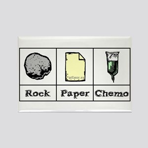 Rock Paper Chemo Rectangle Magnet