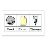 Rock Paper Chemo Rectangle Sticker