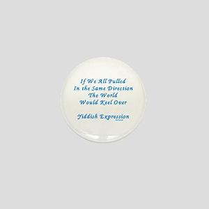 Be Different Yiddish Saying Mini Button