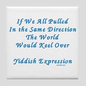 Be Different Yiddish Saying Tile Coaster