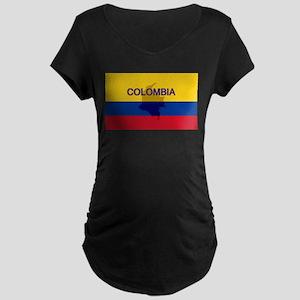Colombian Flag Extra Maternity Dark T-Shirt