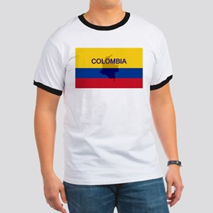 Colombian Flag Extra Ringer T