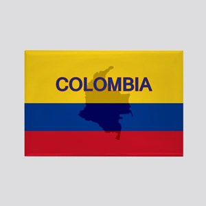 Colombian Flag Extra Rectangle Magnet