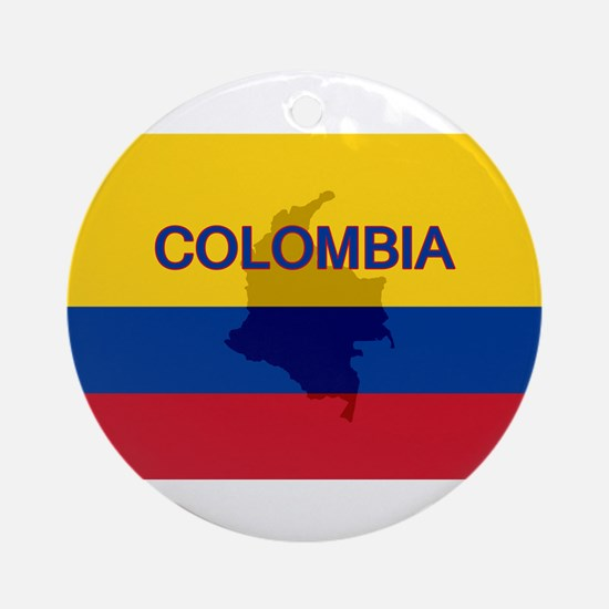 Colombian Flag Extra Ornament (Round)