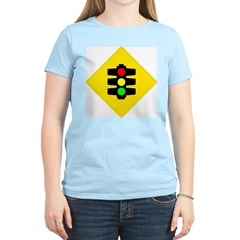 Traffic Light Women's Pink T-Shirt
