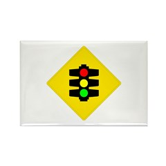 Traffic Light Sign - Rectangle Magnet