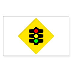 Traffic Light Sign - Rectangle Decal