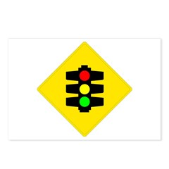 Traffic Light Sign - Postcards (Package of 8)