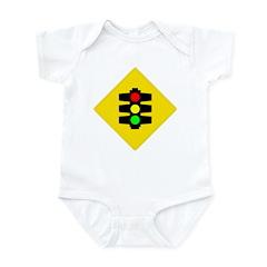 Traffic Light Sign - Infant Creeper