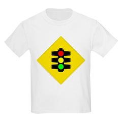 Traffic Light Sign - Kids T-Shirt