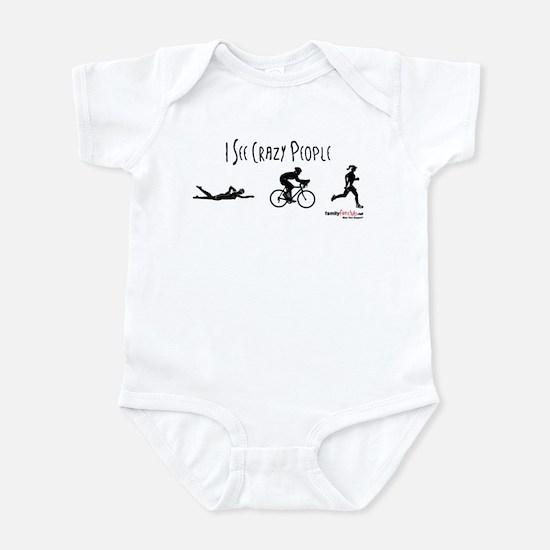 I see crazy people Infant Bodysuit