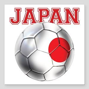 "Japan Football Square Car Magnet 3"" X 3"""