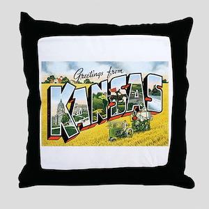 Kansas KS Throw Pillow