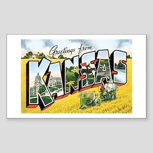 Kansas KS Rectangle Sticker
