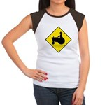 Tractor Crossing Women's Cap Sleeve T-Shirt
