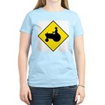 Tractor Crossing Women's Pink T-Shirt